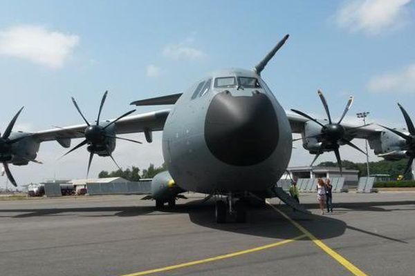 L'Airbus A400M effectuait ce vendredi une série d'essais à l'aéroport de Limoges