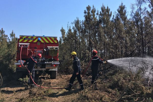 Les sapeurs pompiers sont maîtres du feu à Pillac en Charente