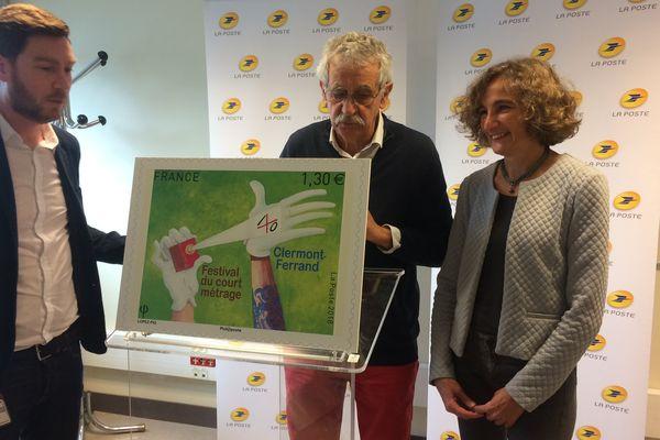 Un timbre pour fêter les 40 ans du Festival international du court métrage à Clermont-Ferrand. Il a été présenté à Boulazac, en Dordogne.