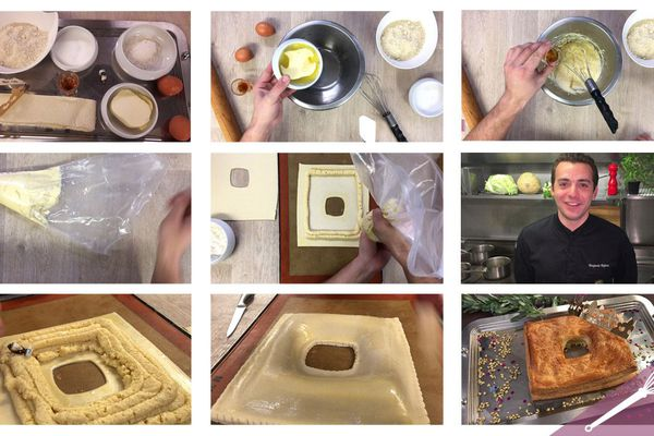 Les grandes étapes de la galette des rois à la crème d'amande