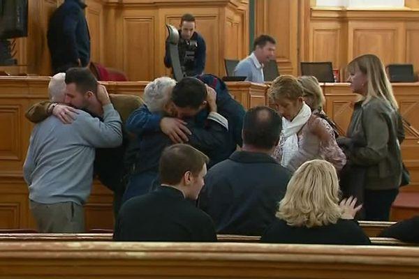 La famille de Lysiane Fraigne assiste au procès
