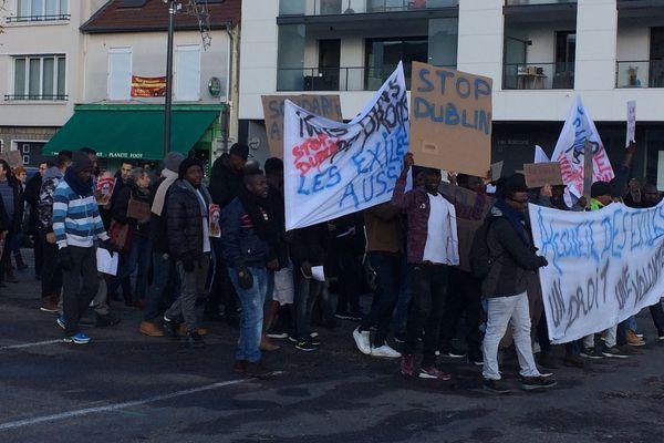 Manifestation en soutien aux migrants à Vesoul.