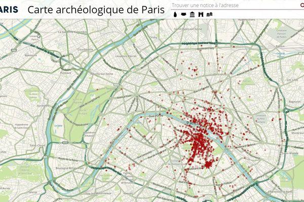 La nouvelle carte archéologique de Paris