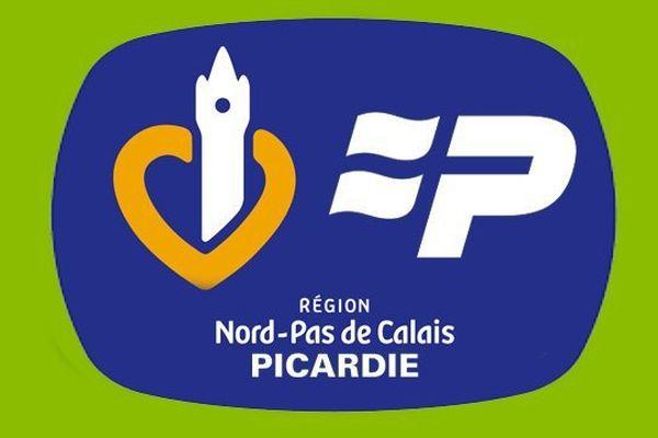 Un mélange des logos actuels des régions Nord Pas-de-Calais et Picardie.