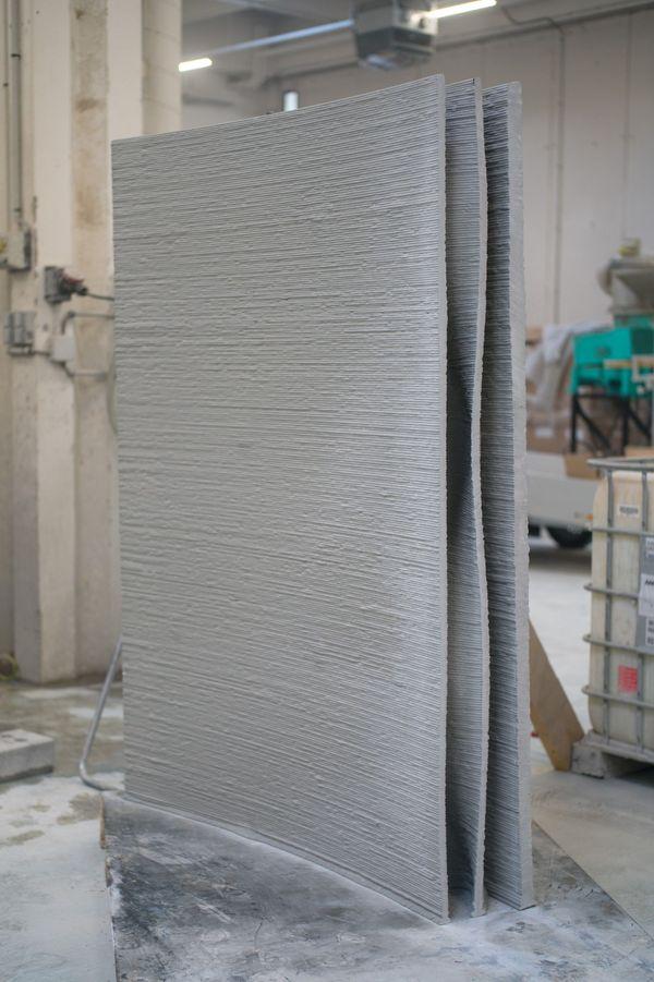 Impression 3D béton mur prototype Villiprint livré sur place à Réma-Vert à Reims