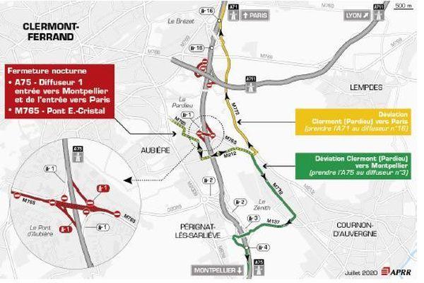 Une fermeture est prévue sur l'A75 le mercredi 22 juillet.