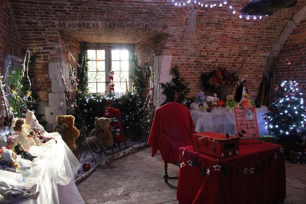 """Des décorations au château de la Bussière, sur le thème """"nuit étoilé""""."""