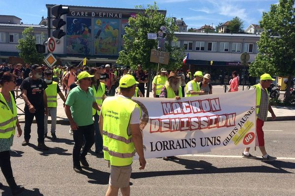 Manifestation des gilets jaunes à Epinal, en Juin 2019.