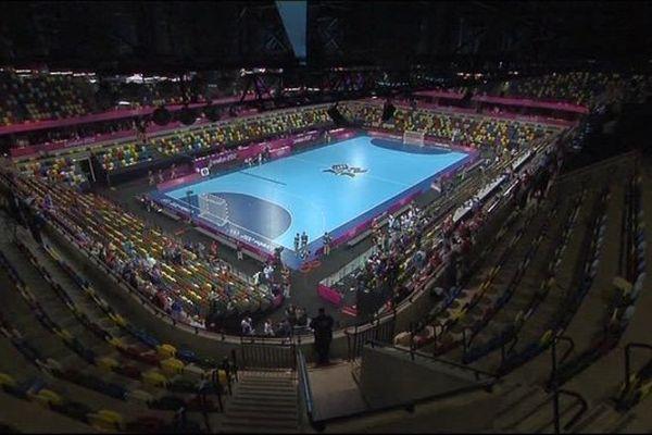 Le terrain olympique du handball lors de JO de Londres 2012.