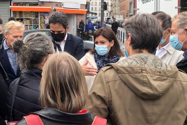 Ce matin, la maire de Paris s'est rendue au Jardin d'Eole après son évacuation.