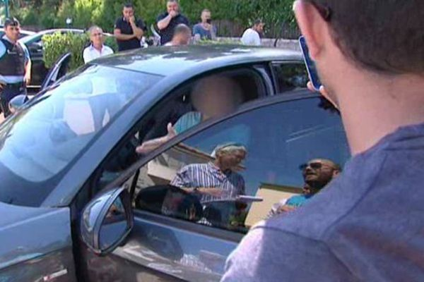 Le 12 juin, les taxis avaient tendu un guet-apens à un chauffeur uberPOP à Nice (archives)