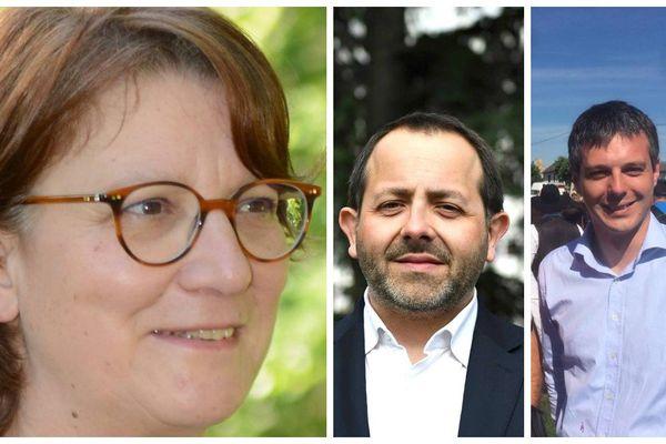 Les trois candidats d'En Marche! arrivent en tête du premier tour dans le Cher. (Nadia Essayan - François Cormier-Bouligeon - Loïc Kervran)