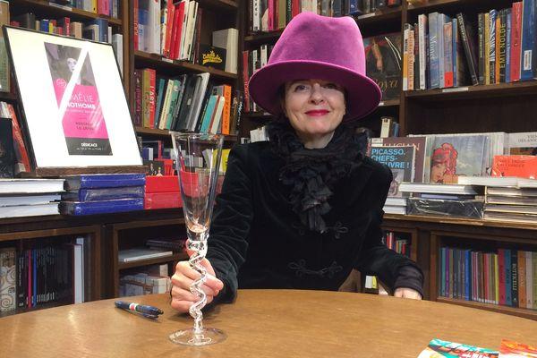 L'auteure Amélie Nothomb, pour les 100 ans de la librairie Coiffard à Nantes