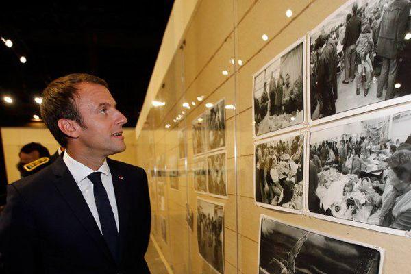 Emmanuel Macron à la Fondation LUMA d'Arles en juillet 2017