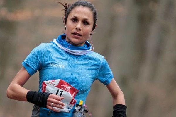 Sylvaine Cussot d'Uzès, membre de l'équipe de France de trail.