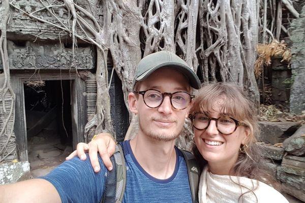 Simon et Julie sont arrivés au Cambodge le 9 mars dernier.