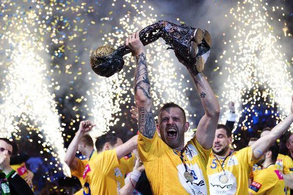 Les polonnais de Kielce lors de leur vicoire en Ligue des Champions le 29 mai 2016