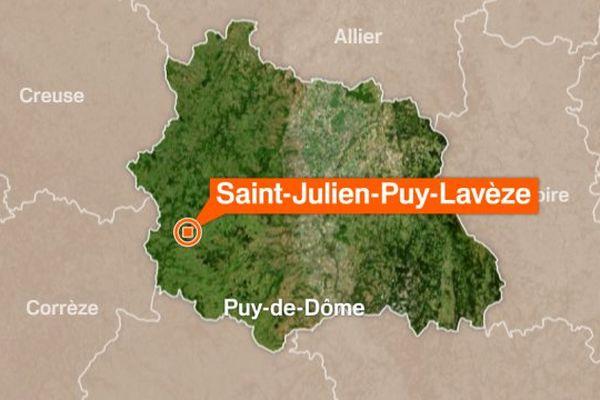 Un homme piégé dans la vase à Saint-Julien-Puy-Lavèze (63) a été évacué par les pompiers.