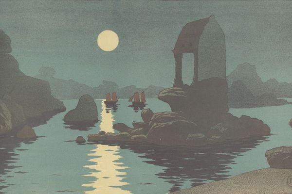 Henri Le Sidaner, Maisons sur la rivière, 1920 Lithographie. L'un des trésors cachés des réserves du musée de Pont-Aven