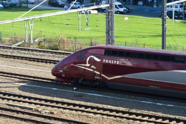 Un Thalys reliant Paris à Amsterdam a percuté une personne à Hallencourt, ce 21 octobre 2019.