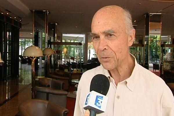 Aubert de Villaine, Président de l'Association des Climats de Bourgogne, interviewé à Bonn le 5 juillet