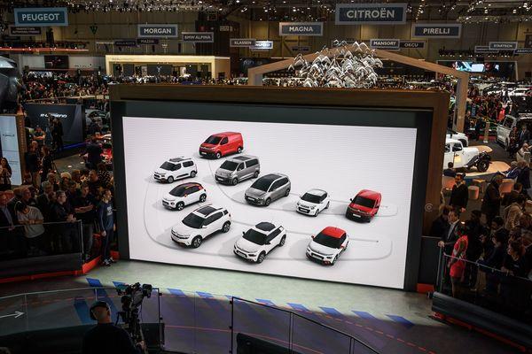 Le Salon de l'automobile de Genève (suisse) en 2019.