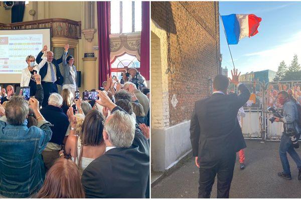 Daniel Fasquelle (à gauche) et Ludovic Pajot (à droite) élus maires célèbrent leur victoire et quitteront l'Assemblée Nationale au mois de juillet.