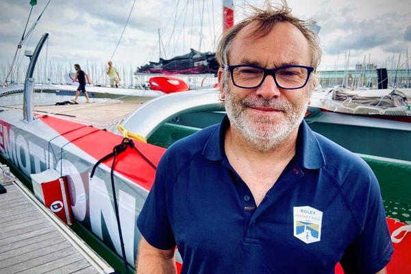 Francis Le Goff est le directeur de la Ligue de voile Normandie et en charge de la coordination nautique de l'arrivée de la Rolex Fastnet Race à Cherbourg-en-Cotentin (Manche).