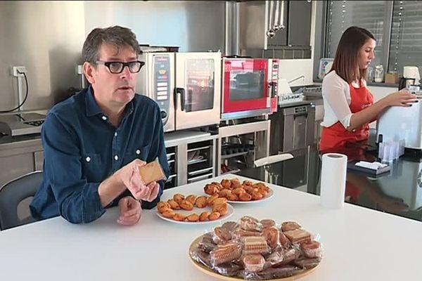 Vincent Lafaye, le directeur général Foodinnov Group, devant un échantillon des productions de son laboratoire nantais spécialisé dans l'innovation culinaire.