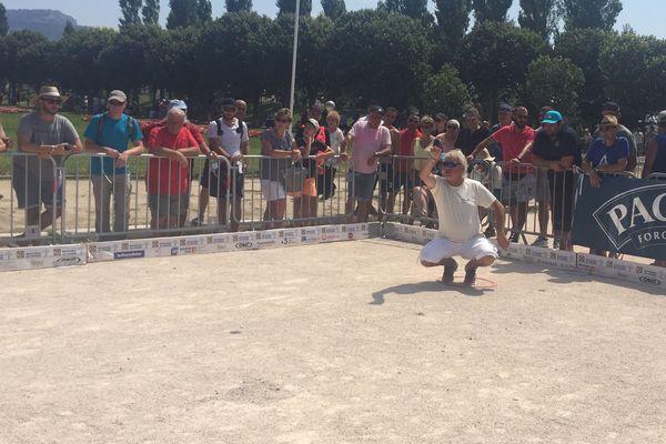 Marco Foyot lors de son 16ème de finale de la Marseillaise