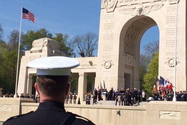 Centenaire de l'escadrille la Fayette : les héros américains de la Grande guerre célébrés à Marnes-la-Coquette, dans les Hauts-de-Seine.