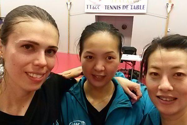 L'équipe féminine du TTACC 86 qui évolue en Pro A.