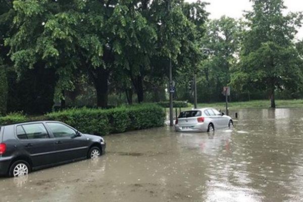 De forts orages à Reims
