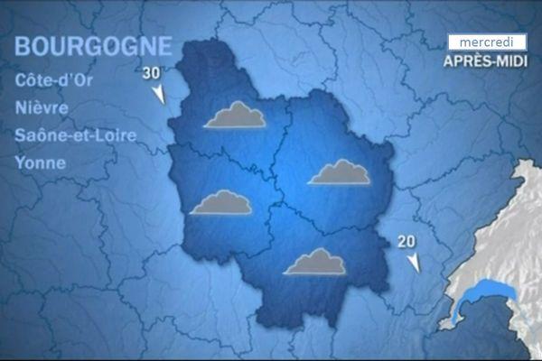 Les prévisions de météo France mercredi 14 octobre après-midi