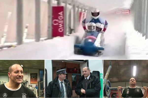 Dans la vie, David est haltérophile, pousseur de bobsleigh et dirige une équipe de contrôleurs à la SNCF. Un homme aux multiples casquettes.