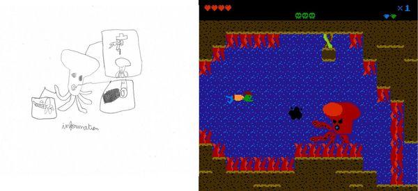 Un personnage de kubo 3, sur la papier, puis colorisé et animé pixil par pixel !