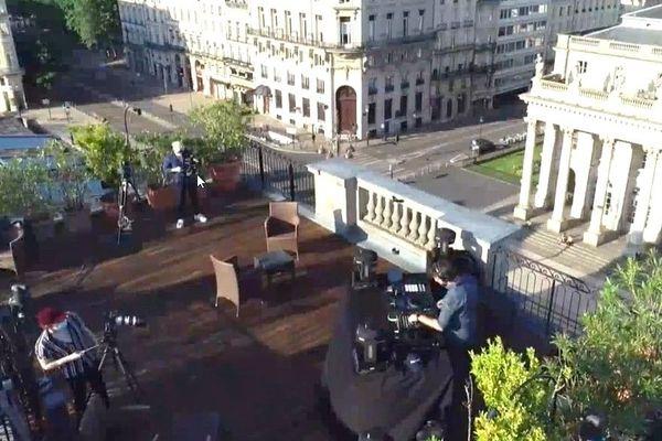 Bassner sur le roof top du Grand Hôtel de Bordeaux