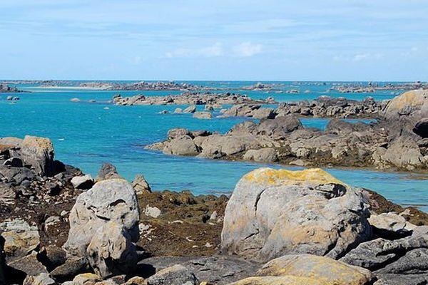 Partie nord-ouest de l'archipel de Chausey, France