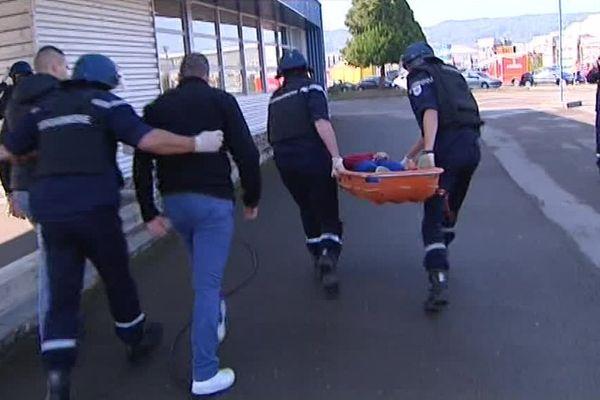 Exercice de sécurité terroriste à l'IUT de Vesoul-Vaivre en Haute-Saône