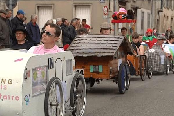 Une course comptant pour le championnat de France de voitures à pédales avait lieu ce dimanche dans les rues d'Argentan