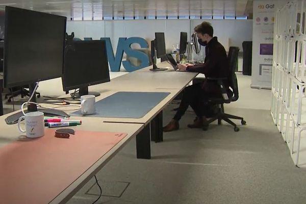 Clément Dutartre, cofondateur de Microdoing.com, à Station F.