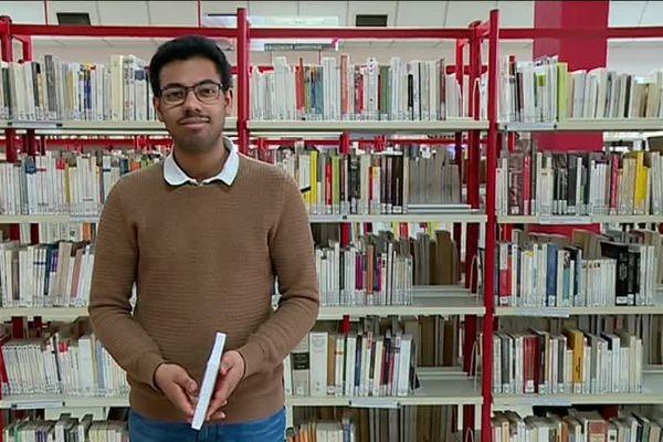 Jordan, 22 ans, étudiant à Albi, aimerait devenir prof d'histoire-géo