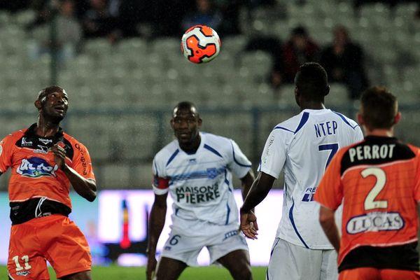 Laval lors de son dernier match face à Auxerre