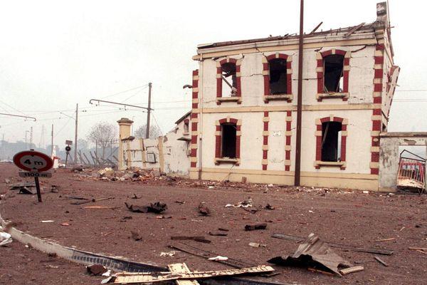 L'entrée de l'usine AZF le jour de l'explosion