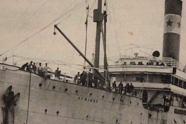 Le paquebot Afrique a sombré le 12 janvier 1920, trois jours après avoir quitté le quai des Chartrons à Bordeaux