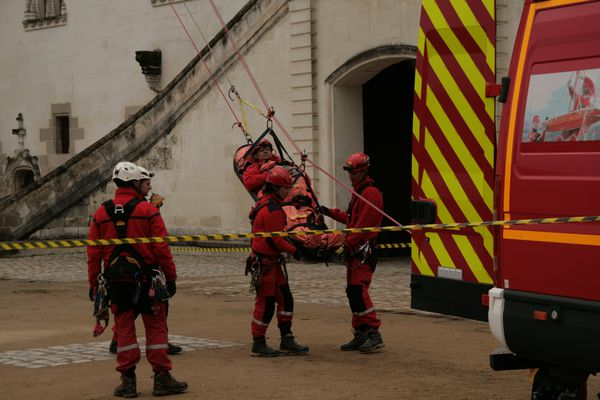 Les établissement répertoriés donnent lieu à des entraînements réguliers des sapeurs-pompiers comme ici au Château de Nantes.