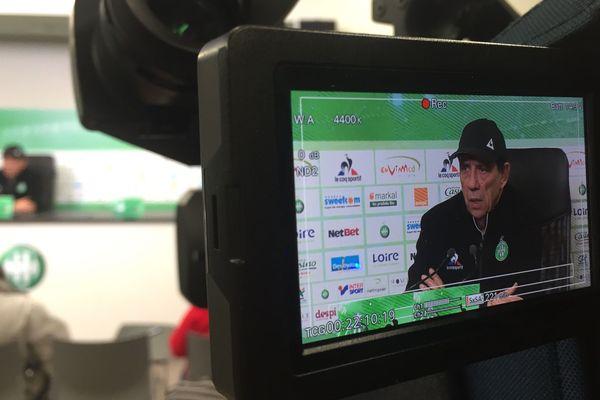Jean-Louis Gasset, entraîneur de l'ASSE en conférence de presse ce vendredi
