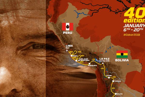 Le top départ du Dakar 2018 sera donné le 6 janvier 2018.