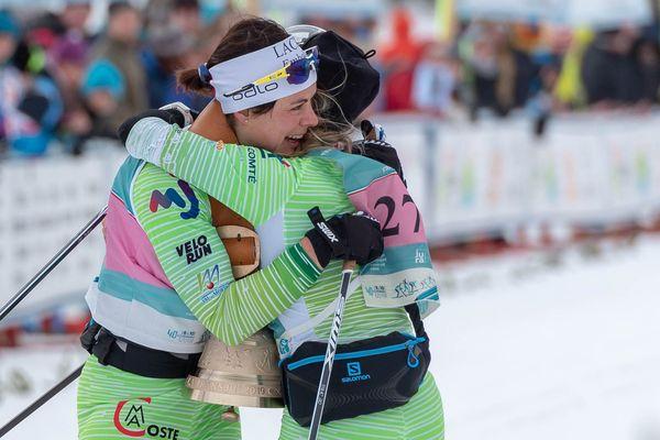 Anouk Faivre-Picon et Céline Chopard-Lallier à l'arrivée