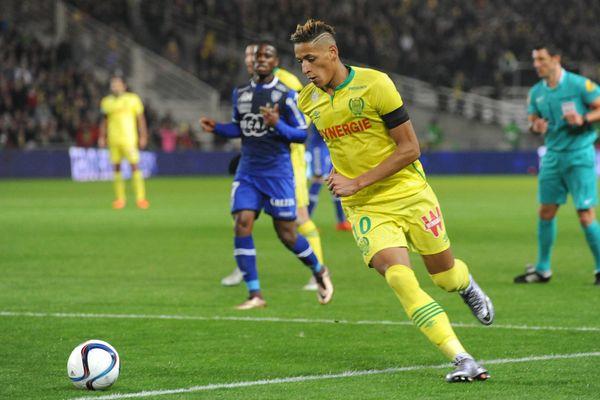 Yacine Bammou lors du match aller contre Bastia à la Beaujoire le 28 novembre 2015